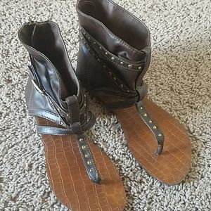 Forever Shoes - Brown gladiator sandals